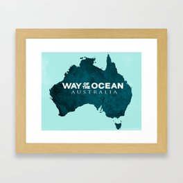 WAY OF THE OCEAN - Australia Framed Art Print