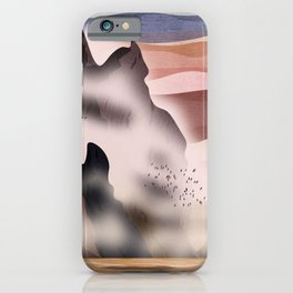 Between the sea and the mountains iPhone Case