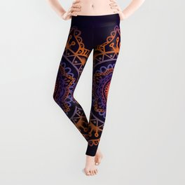 Colourful Mandala of Life Leggings