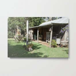 The Old Farming Cottage Metal Print