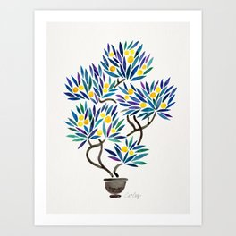 Bonsai Fruit Tree – Lemons Art Print