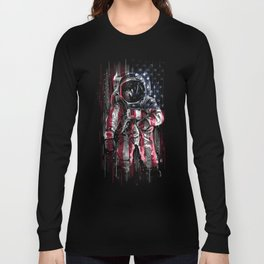 Astronaut Flag Long Sleeve T-shirt