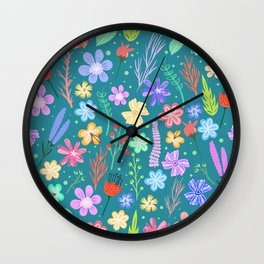 Cute little flowers Wall Clock