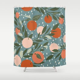 Indy Bloom Tangerine Rain Shower Curtain