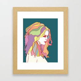 Big Hair day Framed Art Print