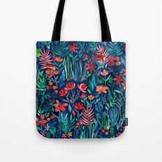 Tropical Ink - a watercolor garden Tote Bag