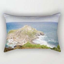 San Juan de Gaztelugatxe landscape Rectangular Pillow