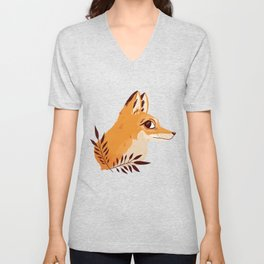 Fox Familiar Unisex V-Neck