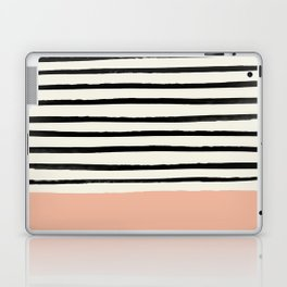 Peach x Stripes Laptop & iPad Skin