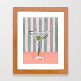 Flirty Martini Framed Art Print