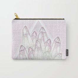 Crystals - Pink Carry-All Pouch
