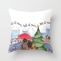 PNW Christmas Throw Pillow