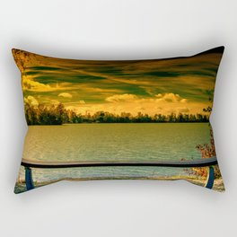 Looking towards the lake Rectangular Pillow