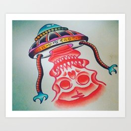 Death Ray From Space Art Print