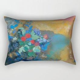 "Odilon Redon ""Ophelia among the Flowers"" Rectangular Pillow"