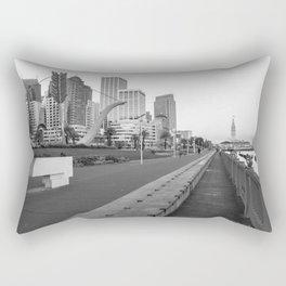 San Francisco Downtown- BW Rectangular Pillow