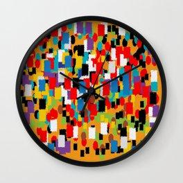 Mural abstract 3 Wall Clock