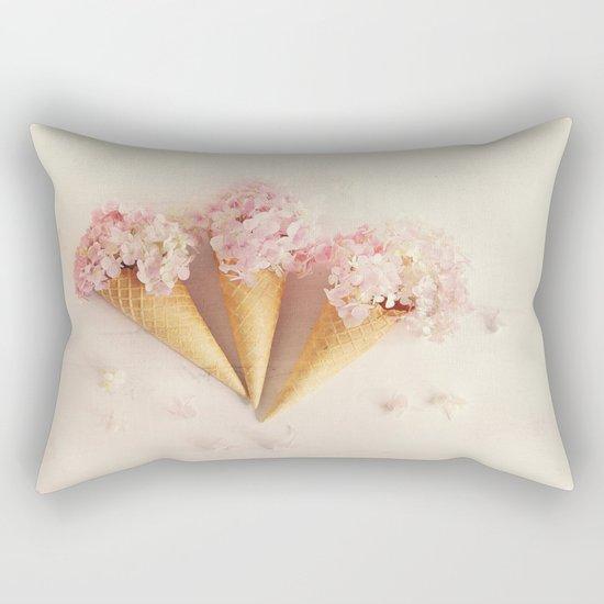fresh flowers in ice cream cone Rectangular Pillow
