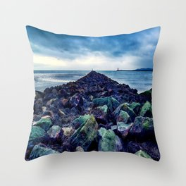 Road to the Sea Throw Pillow