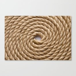 Sisal rope Canvas Print