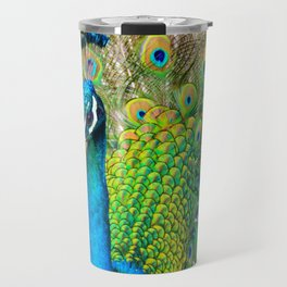 Beautiful Peacock (Color) Travel Mug