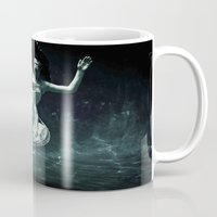 abyss Mugs featuring abyss of the disheartened : III by Heather Landis