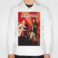 battlestar Hoodies featuring Battlestar Galactica by Storm Media