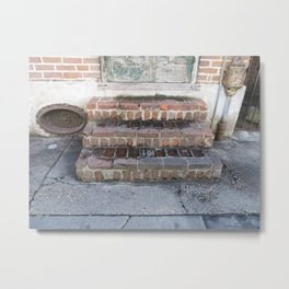 New Orleans: French Quarter Stoop Metal Print
