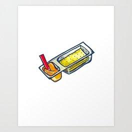 Cheese + Crackers Art Print