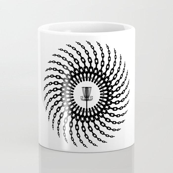 Disc Golf Basket Chains Coffee Mug