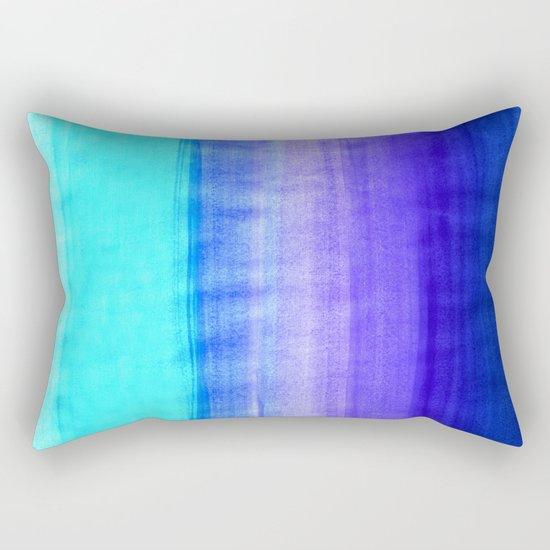 Ocean Horizon - cobalt blue, purple & mint watercolor abstract Rectangular Pillow
