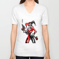 harley V-neck T-shirts featuring Harley by Chris Thompson, ThompsonArts.com