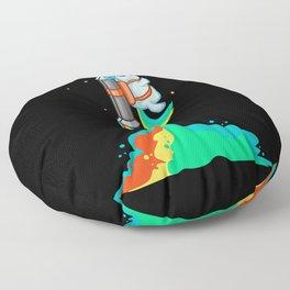 Flying Chubby Unicorn - Rainbow Jetpack Floor Pillow