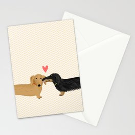 Dachshunds Love Stationery Cards