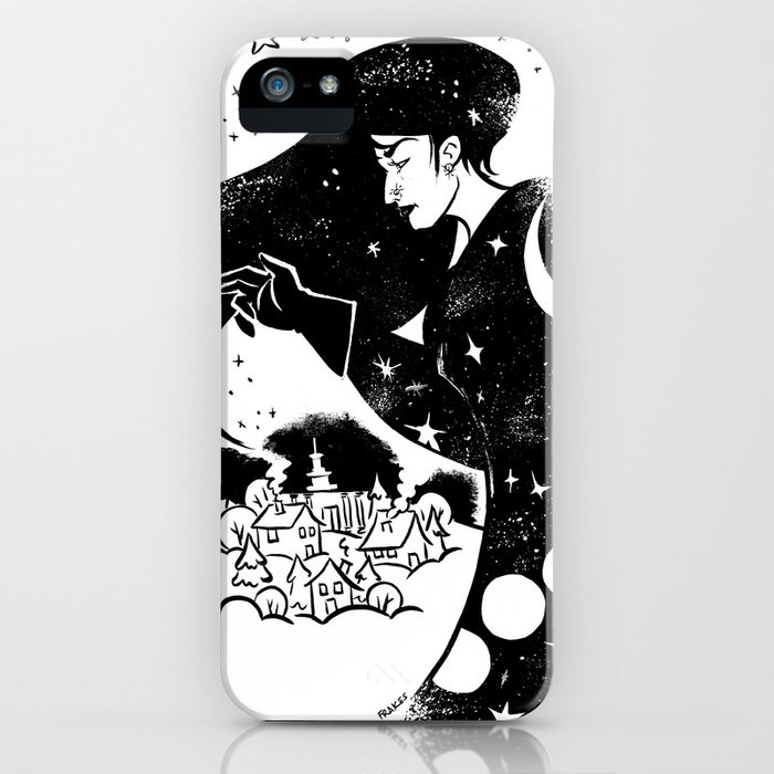 Snow and Stars iPhone Case