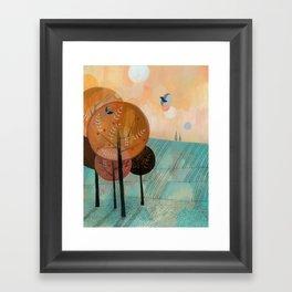 Trees & Birds Framed Art Print