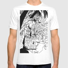 munsalvo White SMALL Mens Fitted Tee