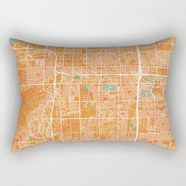 Tempe, AZ, USA, Gold, Blue, City, Map Rectangular Pillow
