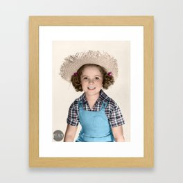 Shirley Temple - 1938 colorized Framed Art Print
