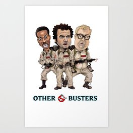 Otherbusters with Glow Title Art Print