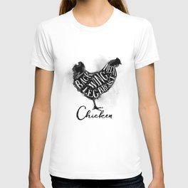 Chicken cutting scheme T-shirt