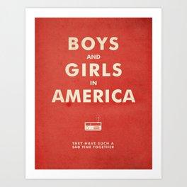 Boys & Girls In America Art Print