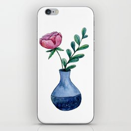 Peony Bouquet in Vase iPhone Skin