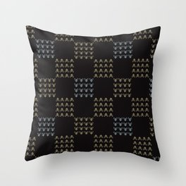 Trendy Abstract Chequered Grid Throw Pillow