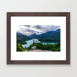 Crushing clouds Framed Art Print