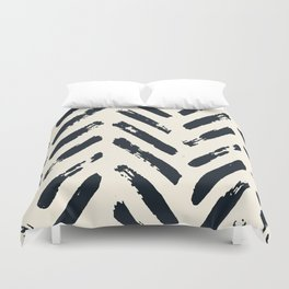 Retro Chevron Pattern 02 Duvet Cover