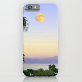 Palms on Full Moon iPhone Case