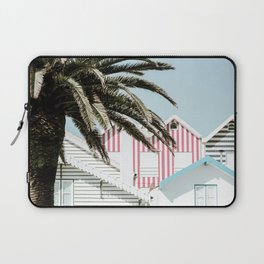 Candy Striped Houses Laptop Sleeve