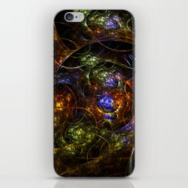Wormhole Flame Fractal iPhone Skin
