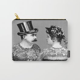 Tattooed Victorian Lovers | Tattooed Couple | Vintage Tattoos | Victorian Tattoos | Victorian Gothic Carry-All Pouch